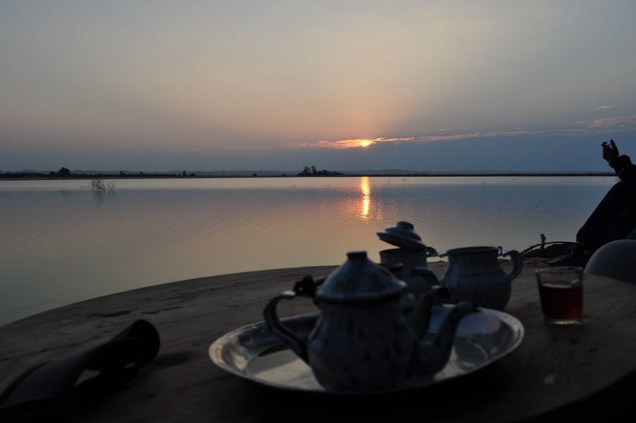 Beauty In Nature Egypt Nature Outdoors Reflection Siwa Siwa Oasis Sky Sunset Tea Tranquility