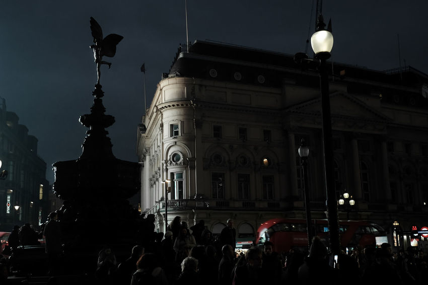 London Light - Architecture Building Exterior Built Structure City Crowd Illuminated Large Group Of People Night Outdoors Place Of Worship Real People Sky Travel Destinations