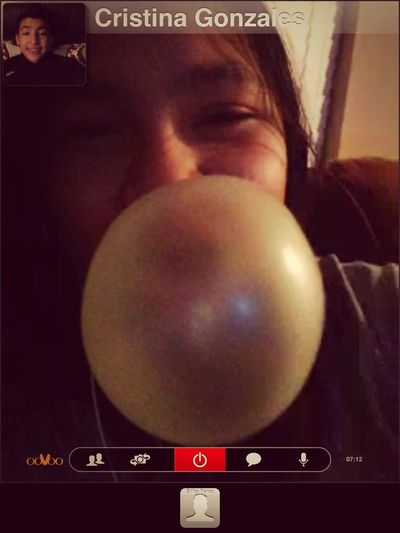 Oovoo With My Sis