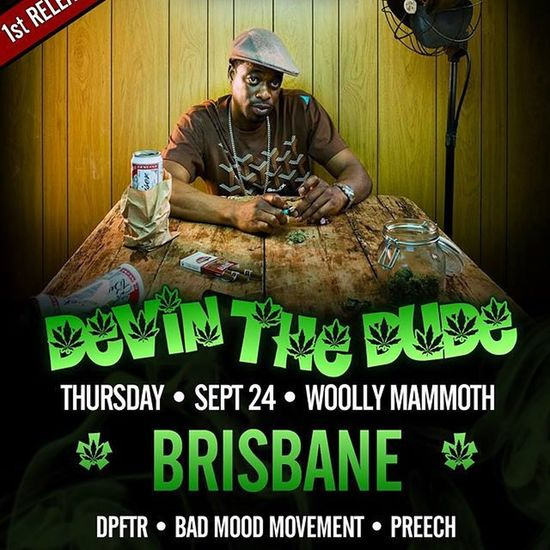I'll be supporting @devindude420 with my BMM brothers in less than 4 weeks at the Woolley Mammoth! 1st release tickets are sold out, 2nd release available. Hit me up for tickets before they run out! Devinthedude Smokeup Blazed Sessions Stoner Highlife BADMOODMOVEMENT Bmm Grilled