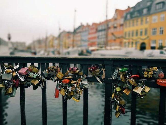 Copenhagen, Denmark Love Locks Bridge Bridge View