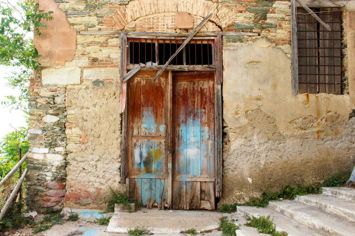 Architecture Bad Condition Building Building Exterior Closed Damaged Decay Deterioration Door Doors Exterior Façade Greece House Lesbos Lesvos No People Old Outdoors Residential Building Residential Structure Run-down Rusty Rustygoodness Weathered