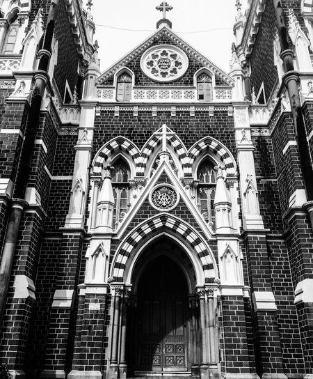 Amazing Architecture Fortheloveofblackandwhite Church Mountmerry Mumbaimerijaan