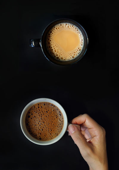 Black Background Black Coffee Black Color Breakfast Coffee Coffee Cup Coffee Time Cup Delicious Enjoying Life Espresso Food And Drink Hand Hot Drink Latte Lifestyles Local Coffee Milk Tea Morning Relaxing Tea Break Tea Time Temptation View From Above Visual Feast