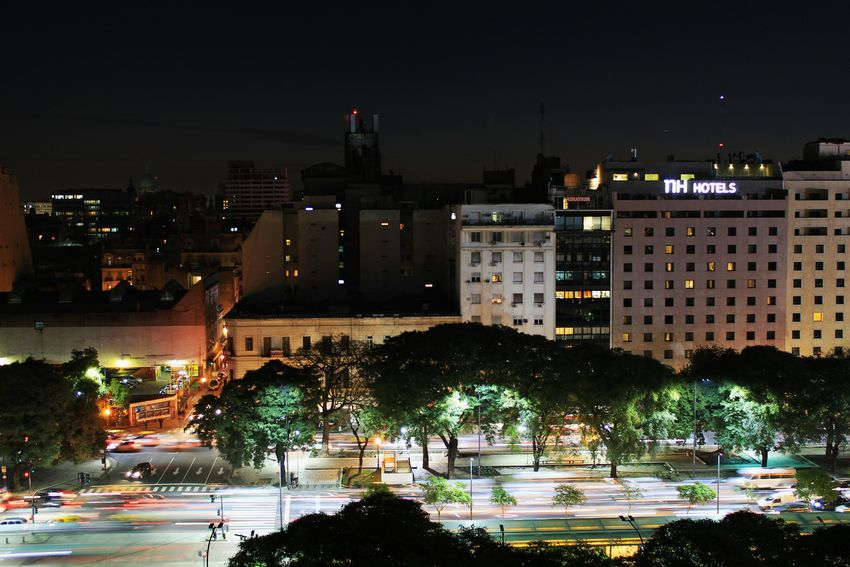Buenos Aires Argentina Capital Capital Federal Caba Hotel View On The Way 9 De Julio Showcase July The City Light