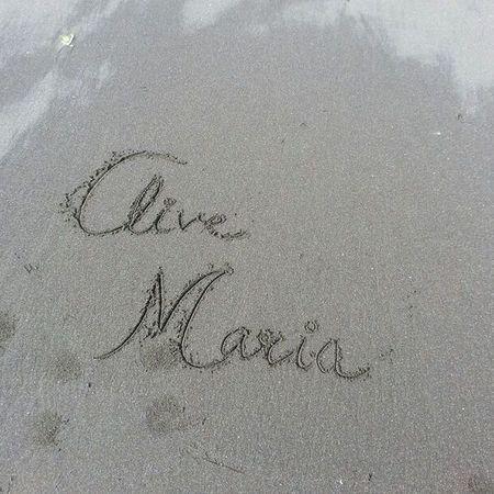 Day93: Love on Sand... 100happydays Beachmemories Longwalk Sand Names Love Lovethispic Instamemory Instagood Instapic Doubletap