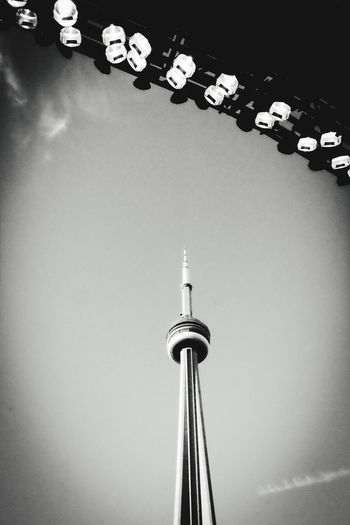 CN tower in black & white Tower Architecture CN Tower Against Blue Sky CN TOWER Toronto Canada CN Tower - Toronto CN Tower Stadium Lights Stadium Copyspace Architecture Sky Clear Sky Low Angle View Copy Space Blackandwhite Black And White Black & White Blackandwhite Photography Monochrome Photography Monochrome MonochromePhotography Neighborhood Map Toronto