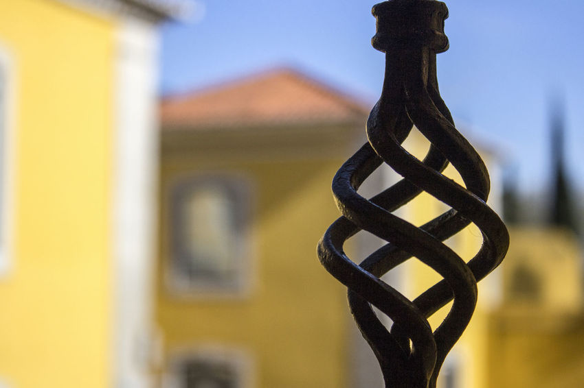 About the yellow house... Yellow House  Detail Focus On Foreground Historic House Metal Work Spiral Yellow