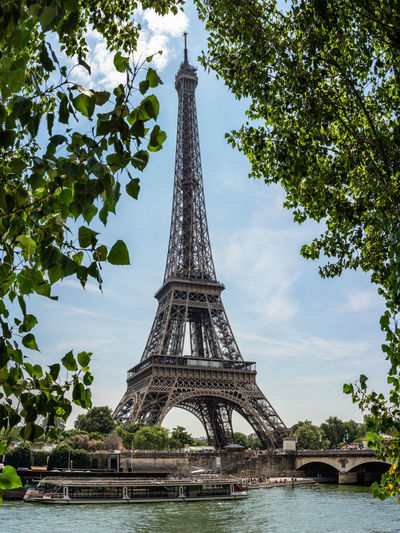 Eiffel Tower Romantic Architecture Built Structure City Day History Nature No People Outdoors Plant Sky Spire  Tall - High The Past Tourism Tower Travel Travel Destinations Tree Water The Great Outdoors - 2018 EyeEm Awards The Traveler - 2018 EyeEm Awards The Architect - 2018 EyeEm Awards The Street Photographer - 2018 EyeEm Awards