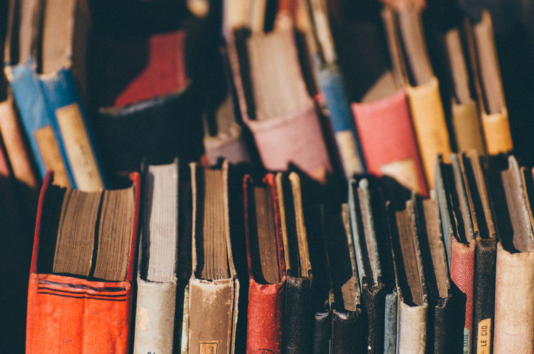 Old books Abundance Back Backgrounds Books Bookstore Choice Close-up Colors Day Full Frame Indoors  Large Group Of Objects Library Literature Market Market Stall Multi Colored No People Old Organized Page Shipshape Tidy Variation Vintage Lieblingsteil BYOPaper!