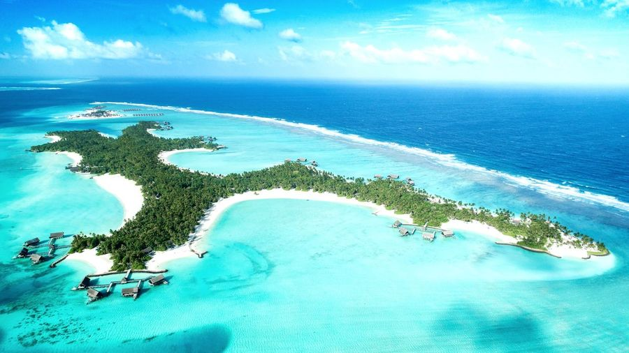 One and Only Reethi Rah. (Beautiful island) Resort Island Beauty In Nature Horizon Over Water No People Nature Blue Land Tranquility Cloud - Sky