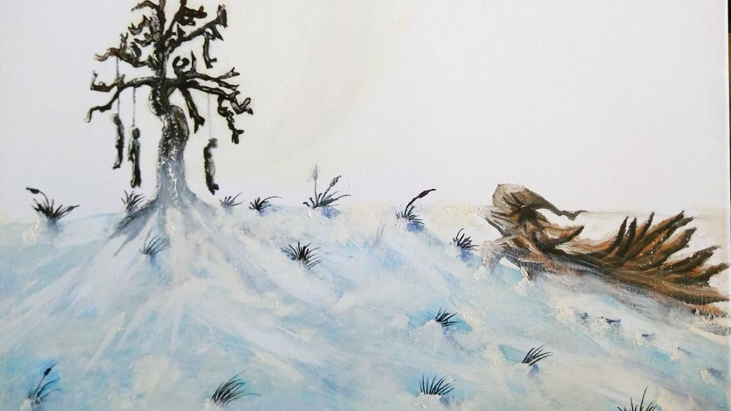 The great blizzard Oil Painting Oilpaint Snow Colorado Art Jesus Acevedo Original Artwork