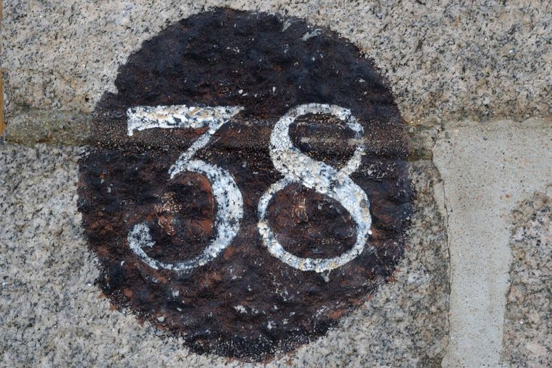 38 Numbers Only Sign Signage Number Numbers Numbers And Letters Thirtyeight White Lettering