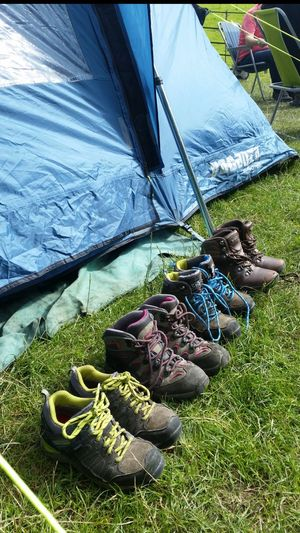 Morning on the campsite Campinglife Walking Boots