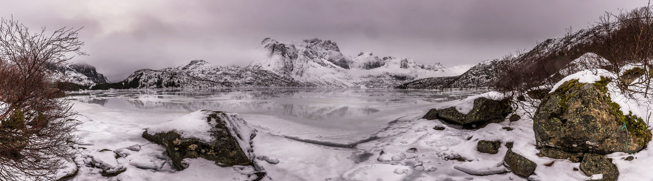 Lofoten Norway Sky Cloud - Sky Clouds Lake Panorama Panoramic Photography Panoramic Landscape Photography Photo Photography Themes Photooftheday Photographer Nature Nature_collection Nature Photography Landscape Lanna Food Landscape_Collection Landscape_photography Ice Snow Scenics - Nature White