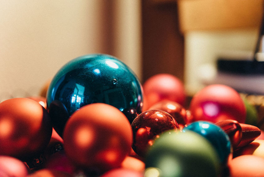 Ball Celebration Christmas Christmas Decoration Christmas Presents  Close-up Crafted Day Fragility Handmade Handmade Christmas Indoors  Made With Love Marbles Multi Colored No People Presents Shiny Snooker Ball Sphere Xmas