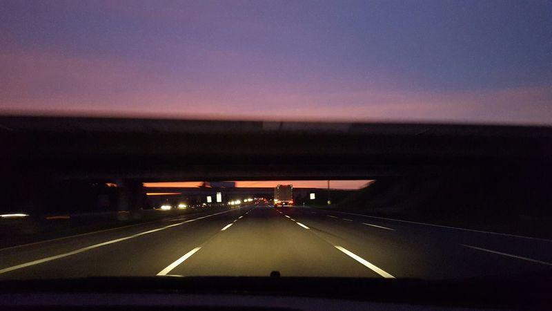 Citydream Sunset Highway Onward Going Somewhere Unknown