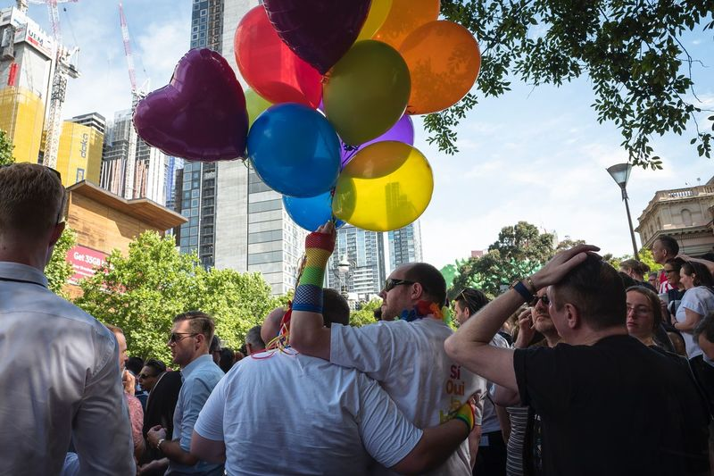 The day Australia legalised same-sex marriage. Group Of People Celebration Crowd Balloon Real People Women The Photojournalist - 2018 EyeEm Awards Large Group Of People Event Men Multi Colored Adult Sky Day Outdoors