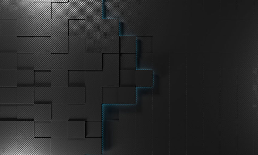 Square Cube Carbon Carbon-fiber Light Geometry Pattern Background Abstract Design Shape Art 3D Geometric Wallpaper Graphic Concept Modern Structure Texture Light Mosaic Hexagonal Tile Honeycomb Style Illustration Polygon 3d-rendering Render Rendering