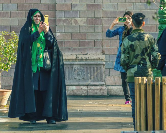 Adult Outdoors People Iranian Golestan Palace Young And Old Telephonepole Moving Around Rome