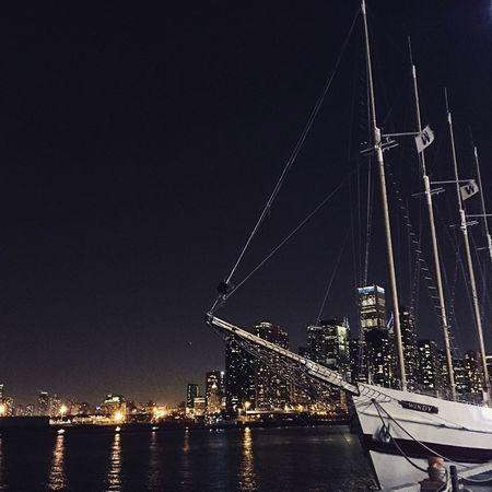 Windy flys the W. Night Water Reflection Illuminated City Sky Windy City Flythew Cubs  EyeEm New Here