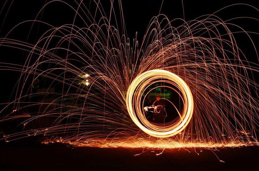Long Exposure Longexposure Night Light Steelwoolphotography Burn Dark Fireworks Bright