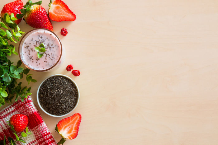 Berries Breakfast Chia Chia Seeds Food Freshness Healthy Eating Healthy Lifestyle Morning Strawberry Yogurt