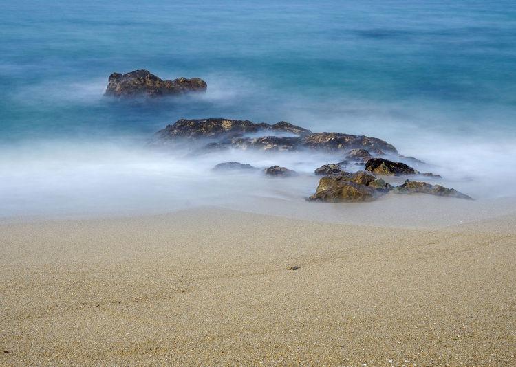 Ocean rocks and sand