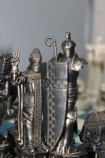 Art And Craft Chess Creativity Detail Focus On The Background Metal Metallic Part Of Single Object Soldier