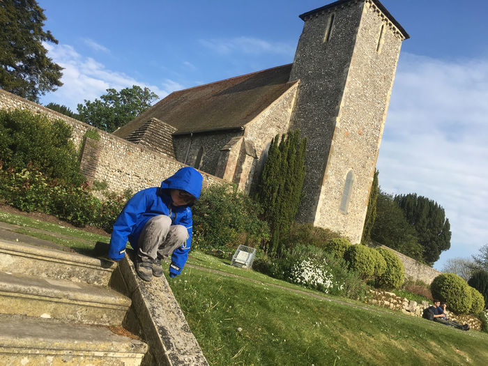 Boy Lawn Medieval Architecture Tower