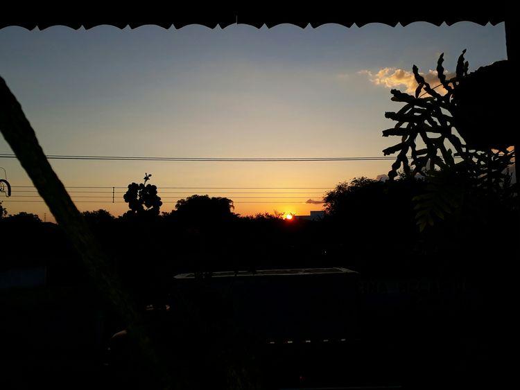 Pindamonhangaba Sao Paulo - Brazil My View No Filter Sunset_collection Shadows Sunset Sunset Silhouettes Sky