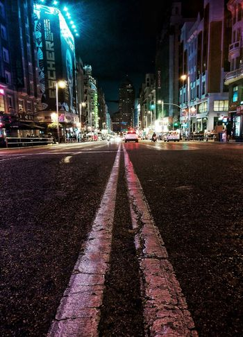 Madrid Night Illuminated Street City Street City The Way Forward Road Outdoors No People Architecture Cityscape Building Exterior