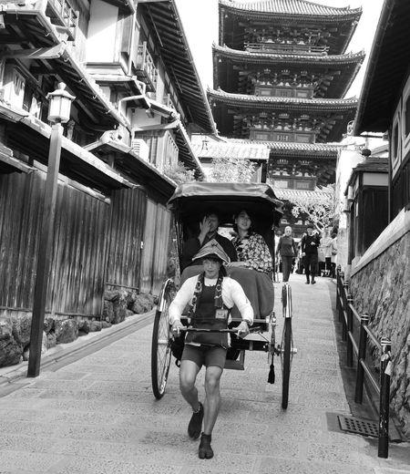 Japanese Architecture Japanese Style Japanese Tradition Life Style Old Days Rikshaw Street Photography Transportation People