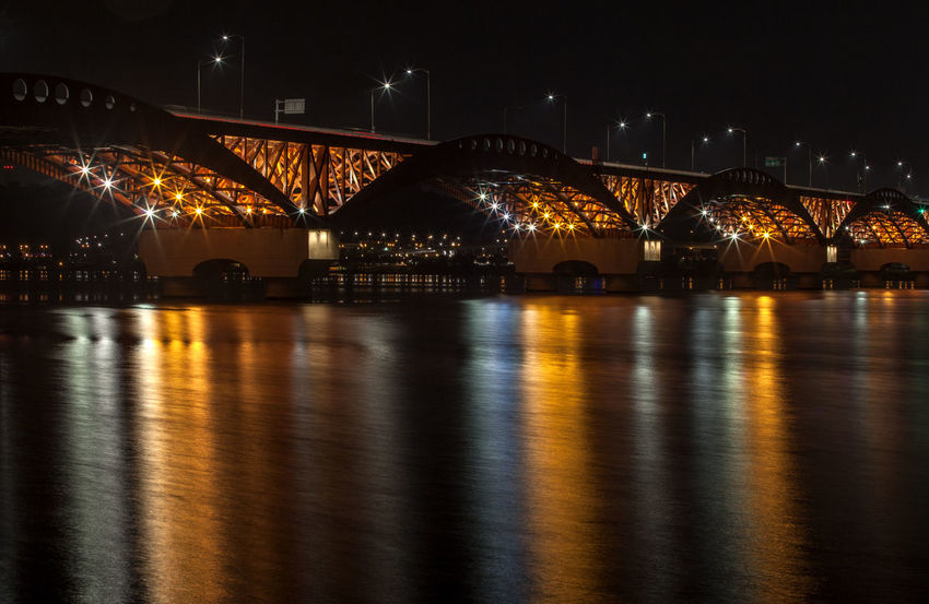 Architecture Bridge Bridge - Man Made Structure Built Structure Capital Cities  City City Life Connection Engineering Han River Hangang Illuminated Night Night View No People Outdoors Reflection River Seongsandaegyo Sky Tourism Tranquility Travel Destinations Water Waterfront