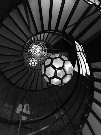 Cotton House Hotel Black And White Blackandwhite Architectural Detail Black & White Bw_collection Bw_lover Bws_worldwide Iphoneonly Iphonephotography IPhoneography EyeEmNewHere Eye4photography  EyeEm Gallery Stairs Lamps Lookingup Built Structure Architecture Indoors  Ceiling Circle Shape Low Angle View Spiral Geometric Shape Decoration Sunlight Design Lighting Equipment