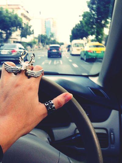 On The Way Traffic Enjoying The Sights Ring