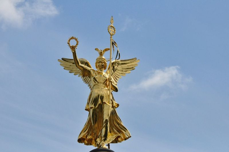 Berlin Siegessäule  Germany Victory Victory Column Gold Goldelse Statue Gold Colored Sculpture Vergoldet Golden