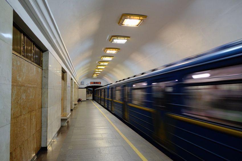 Kiev Ukraine Kiew Blurred Motion Transportation Architecture Mode Of Transportation Train Motion Illuminated Public Transportation Subway Station Speed Subway Train Train - Vehicle Indoors  Travel