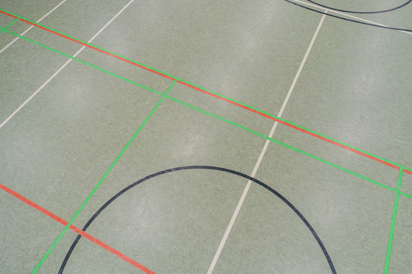 Basketball Hall and Handball Hall floor in a gym Basketball Flooring Handball Labels Lines Sports Field Background Field Lines Gym Indoor Flooring Indoor Soccer Indoor Sports Pitch Soccer Sports Ground Sports Hall Sports Hall Floor