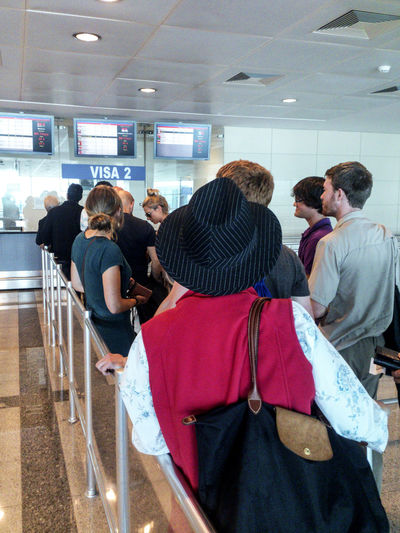 People waiting for their Entry Visa, Ataturk Airport, Istanbul, Turkey Airport Arrivals Atatürk Airport (IST) Commuter Control Group Of People Indoors  Istanbul Turkey Passport Control People People And Places Queue Queuing Tourists Travel Travellers Turkish Valid Validity Visa