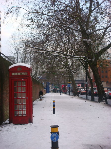London Red Phone Boxes Architecture Building Exterior Built Structure Cold Temperature Communication Day Nature No People Outdoors Pay Phone Red Sky Snow Telephone Booth Tree Winter