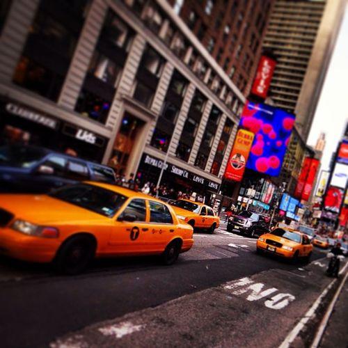 #yellowcabs at #TimesSquare #Manhattan #NewYork Manhattan Newyork TimesSquare Yellowcabs