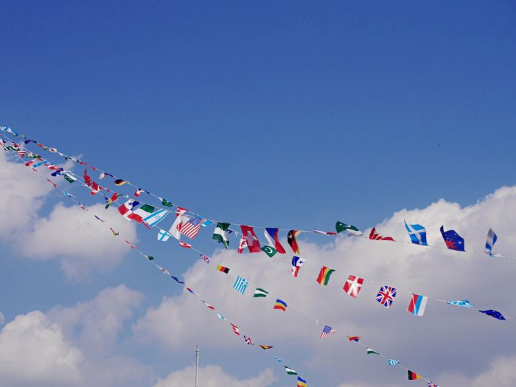 運動会 Sports Day  Athletic Meet / 運動会 Sky Blue Sky Flag Flags National Flag Kindergarten