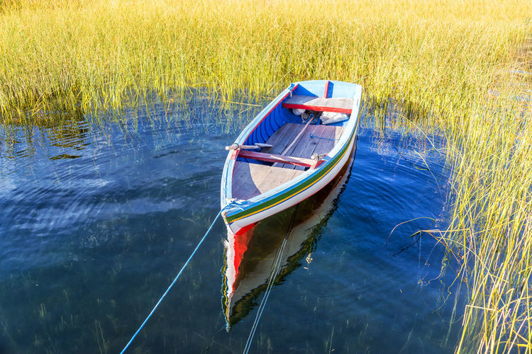 Boat Moored In Lake