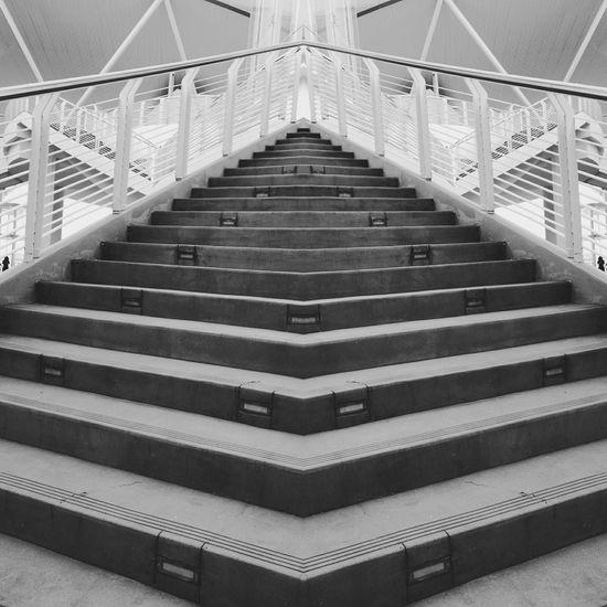 Gurneyparagon Monochrome Staircase Mirroreffect