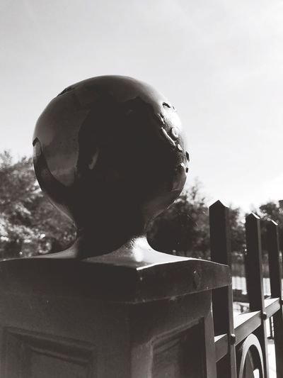 Finnial Finnial Globe Contrast Africa Gate Wrought Iron Black And White Perspective Point Of View Close-up Outdoors Welcome To Black