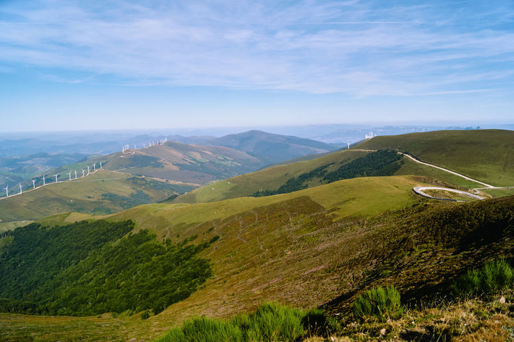 Green mountains in cantabria