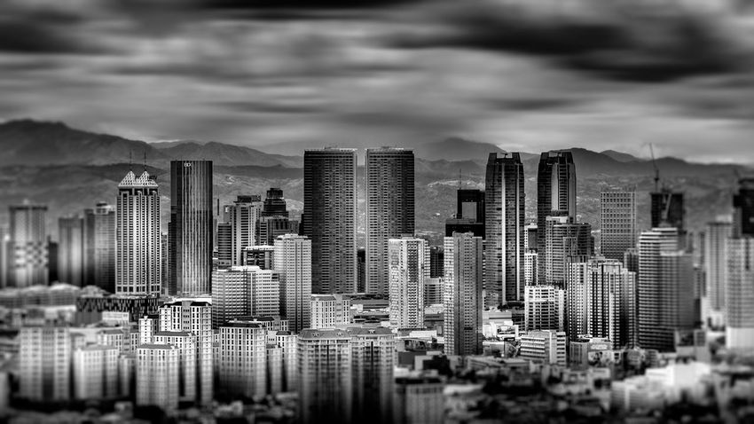 View of Ortigas Skyline Architecture Black And White Photography Building Exterior Built Structure Canon City Cityscape Cloud - Sky Day Downtown District Fine Art Photography Modern Sky Skyscraper Tokina Urban Skyline