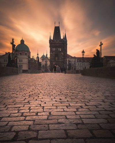 Prague mood Czech Republic Visitcz Art Explore Eye Em Best Shots Long Exposure Moody Sky Mood Prague Sunrise Architecture Built Structure History Sky The Past Water Building Exterior City Cloud - Sky Travel Building Street Outdoors Travel Destinations