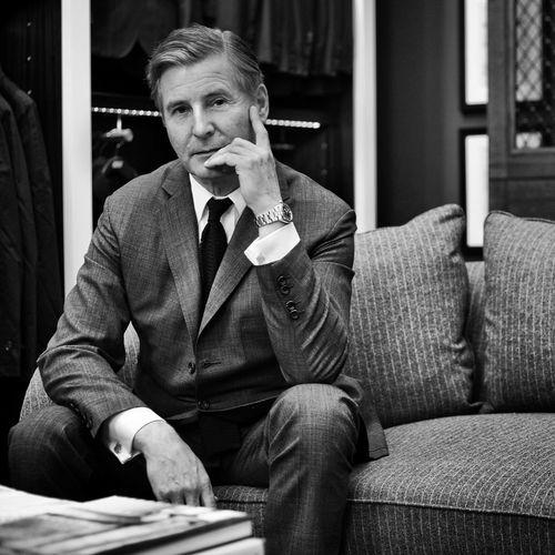 Portrait of Jeremy Hackett from Hackett Londond Style Fashion Elegance Everywhere